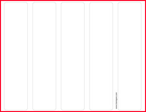 Click to download Printable Bookmark Template.